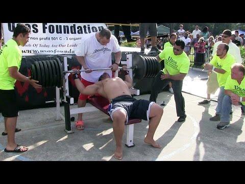 Man Attempts 725lb. World-Record Bench Press