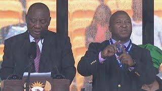 Nelson Mandela memorial signer Thamsanqa Jantjie gives radio interview