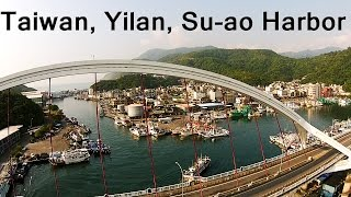 Yilan Taiwan  City new picture : Su-ao Harbor, Yilan Taiwan, Flying above the Harbor