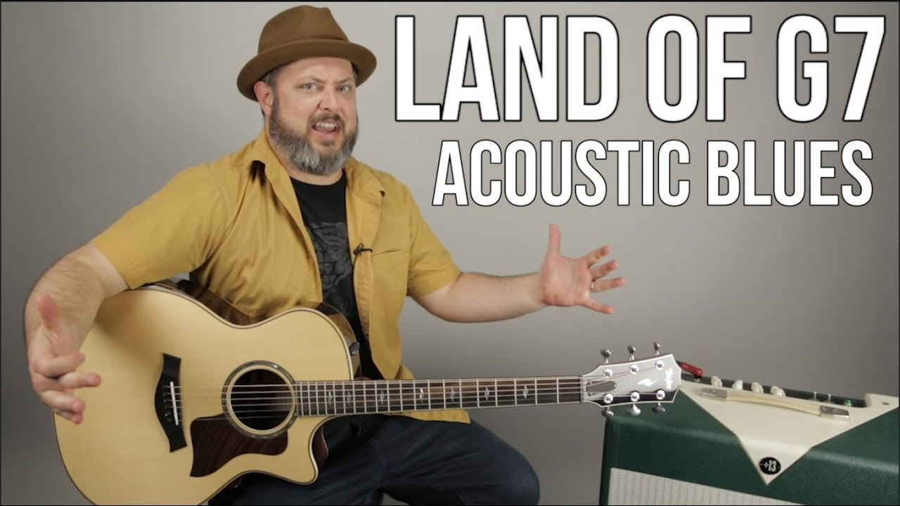 """Land of G7"" Acoustic Blues Guitar Lesson"