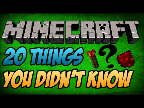 #Minecraft: 20 Things you did not know about Minecraft 1.7.9