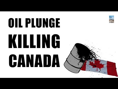 Oil COLLAPSE to 2009 LOW! Canada Housing, Dollar, and Exports Starting to CRASH!