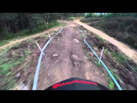 Downhill MTB POV through intense South African trail