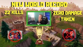 Tfue gets 22 kills with NO DAMAGE Taken * NEW WORLD RECORD*