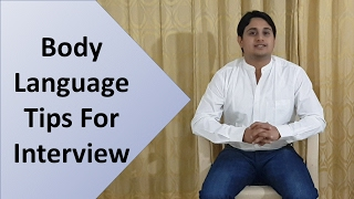Body Language Tips For Interview | Hindi | How to sit in interview