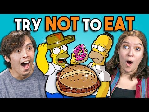 Download Try Not To Eat Challenge - Simpsons Food | People Vs. Food HD Mp4 3GP Video and MP3