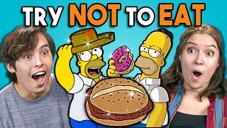 Video Try Not To Eat Challenge - Simpsons Food | People Vs. Food MP3, 3GP, MP4, WEBM, AVI, FLV Juli 2019