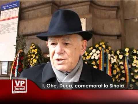I. Ghe. Duca, comemorat la Sinaia