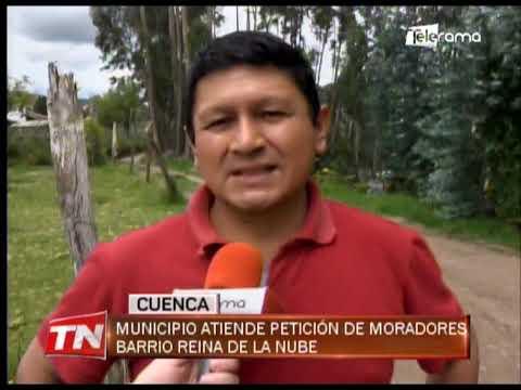 Municipio atiende petición de moradores barrio Reina de la Nube