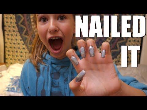 Tween Tries DIY Acrylic Nails  JohnnaMazing