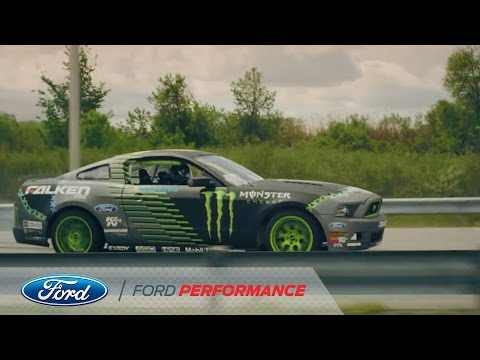 Jr. - Vaughn Gittin Jr. drifts the Ford Flat Rock assembly plant all the way from the assembly line to the test track, onto the shipping rail car. Starting in 2004...