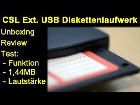 CSL Externes USB Diskettenlaufwerk FDD 1,44MB Diskette - Unboxing und Funktionstest