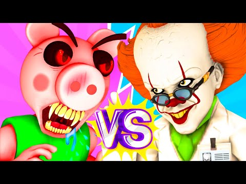 Piggy vs Pennywise - The Movie (Bob Animation All Episodes Compilation Roblox Peppa Pig Parody 3D)