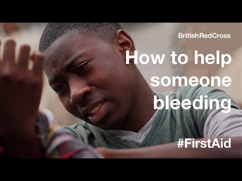 bleeding - Helping someone who is bleeding heavily -- put pressure on the wound. This is one of 14 videos on an online learning resource called Everyday First Aid - an ...