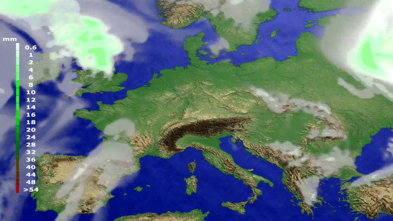 Precipitation forecast Europe 2016-07-18