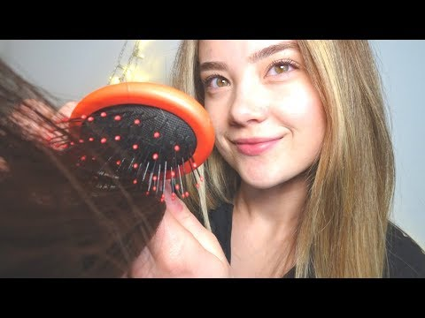 Hair cutting - ASMR HAIR CUT, WASH, & STYLE ROLE PLAY! Real Brushing Sounds, Cutting, Spraying, Ear To Ear