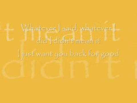 Take That - Back For Good - With Lyrics