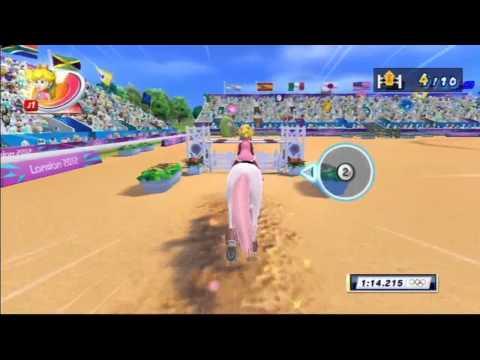 Mario et Sonic aux Jeux Olympiques de Londres 2012 - Equitation : Saut d'obstacles