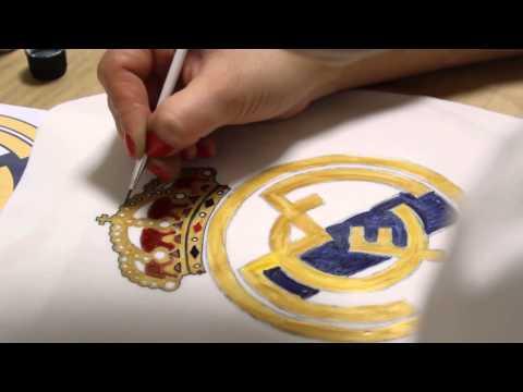 Kricky Cakes Decoration: Fondant Real Madrid logo handpainting 720p