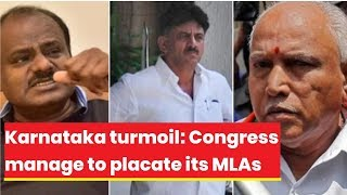Karnataka turmoil: Political tussle ends after 48hrs, Congress manage to placate its MLAs