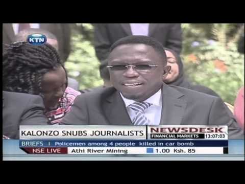 Conference - Former vice president kalonzo musyoka has this morning stunned journalists in a cord news conference, when he declined to answer a direct question from a journalist on grounds of the journalist's...