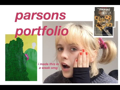 my accepted parsons fashion portfolio (i got a scholarship)