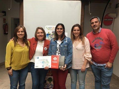 Entrega del Premio Carnaval Pantalla Infotáctil convocado por la Delegación de Turismo