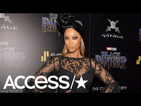 Tyra Banks Stuns In A Risqué Look At The 'Black Panther' Premiere | Access