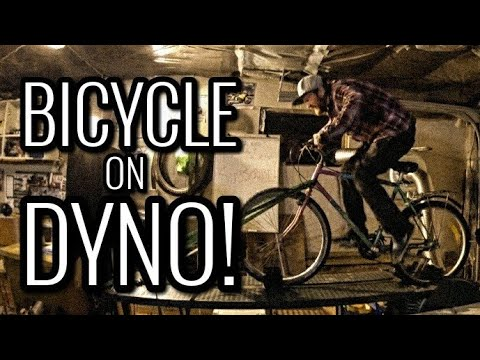BICYCLE ON DYNO | How Much Power? More Than a Moped?! (видео)