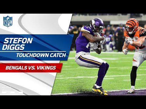Video: Jerick McKinnon's Long Gain Leads to Stefon Diggs' TD Grab! | Bengals vs. Vikings | NFL Wk 15