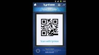 LYNKEE QR code barcode scanner YouTube video