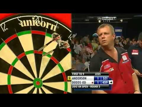 darter - AWESOME 9 DARTER! Gary Anderson 2012 uk open MUST WATCH! Gary Anderson pulling off an awesome 9 dart finish in the 2012 uk open! Please subscribe to see more...