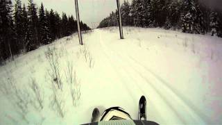 9. Ski-Doo Freeride  137 Jump and some powder