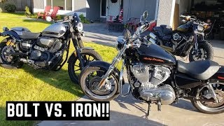 5. Bolt vs. Iron 883 Sportster Yamaha vs. Harley Side By Side Comparison, Review Thoughts & Impressions