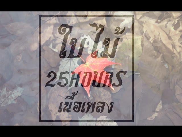 ใบไม-25-hours-เน-อเพลง