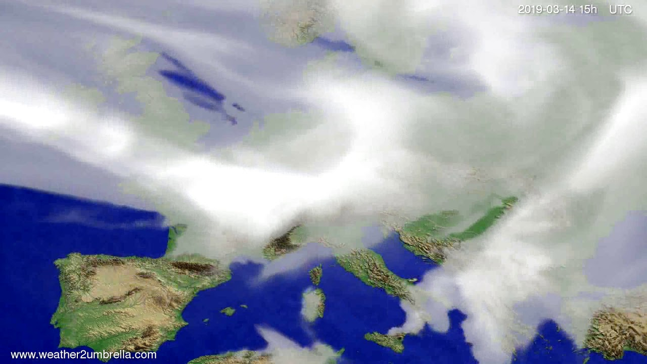 #Weather_Forecast// Cloud forecast Europe 2019-03-12
