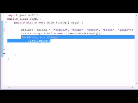 Intermediate Java Tutorial - 6 - LinkedList