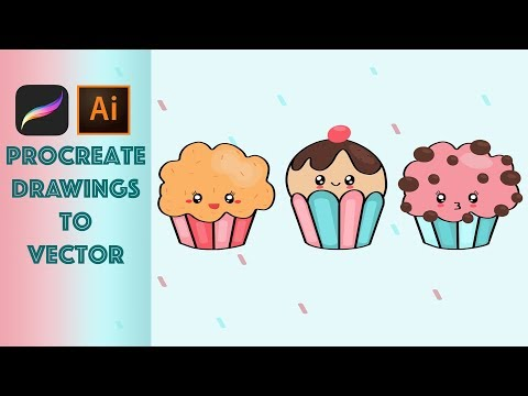 How To Turn Procreate Drawings To Vector Graphics | Adobe Illustrator