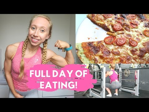Low carb diet - FULL DAY OF EATING - Low Carb Pizza Review & Leg Workout