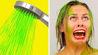 Video BEST FUNNY PRANKS ON FRIENDS || Family Funny Prank Wars by 123 GO! MP3, 3GP, MP4, WEBM, AVI, FLV Agustus 2019