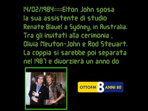 14:02:1984::::::Elton John sposa la sua assistente di studio Renate Blauel