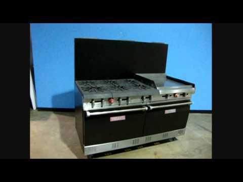 Vulcan 6 Burner Commercial Range W24 Griddle