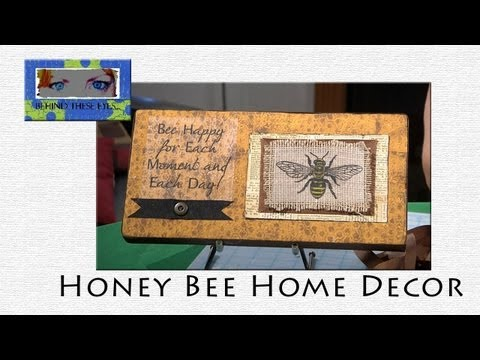 Honey bee home decor when creativity knocks for Honey bee decorations for your home