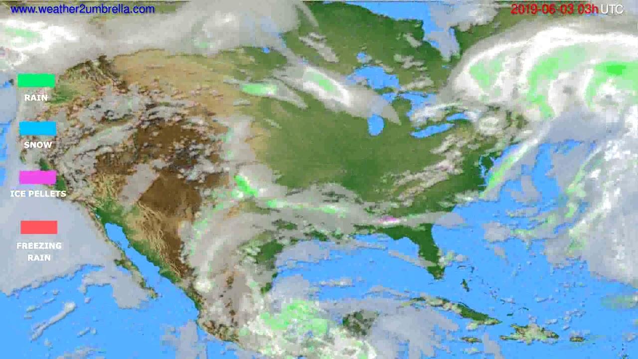 Precipitation forecast USA & Canada // modelrun: 00h UTC 2019-05-31