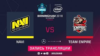 Natus Vincere vs Empire, ESL One Birmingham CIS qual, game 1 [Maelstorm, Inmate]