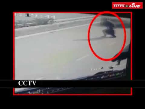 Caught on CCTV: A student of Delhi University crushed a person with his BMW car