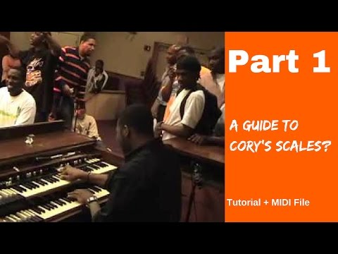 Cory Henry Blazin Part 1 | How Cory Forms Scales! WOW!! | Tutorial + Notes + MIDI File