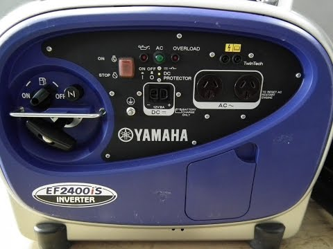 40618 - Yamaha EF2400iS Inverter Generator - 2.4 kVA. Includes extension exhaust as pict