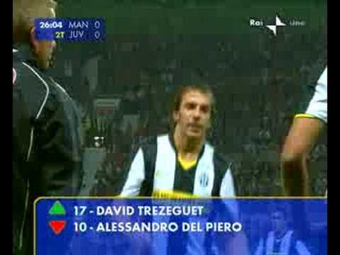 del piero - standing ovation all'old trafford