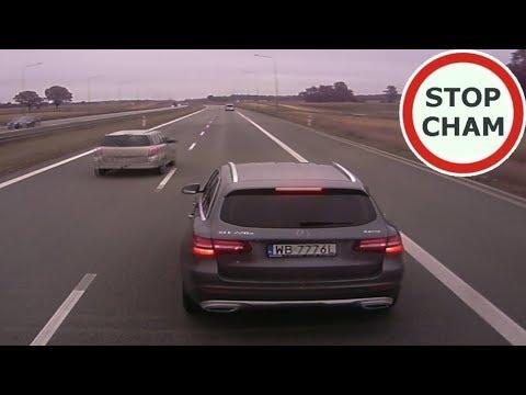 Pirat w Mercedesie hamuje i zajeżdża drogę ciężarówce! Gruba akcja w Mińsku Mazowieckim!